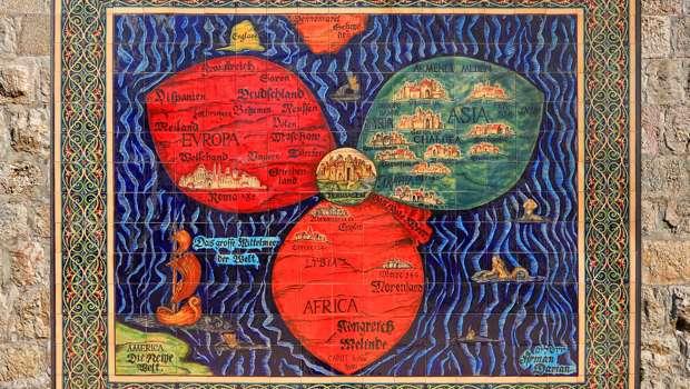Jerusalem Weltkarte